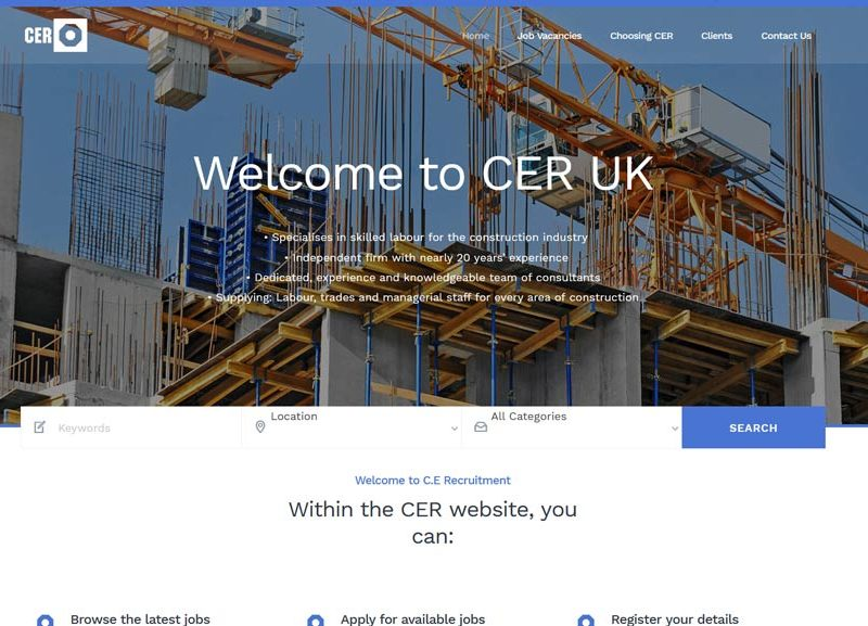 CER Recruitment Bournemouth Website
