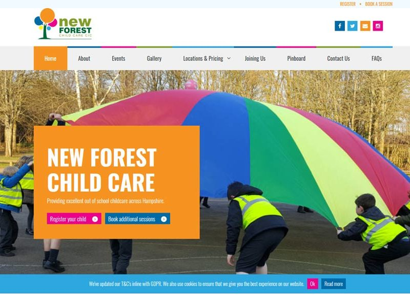 New Forest Child Care Website