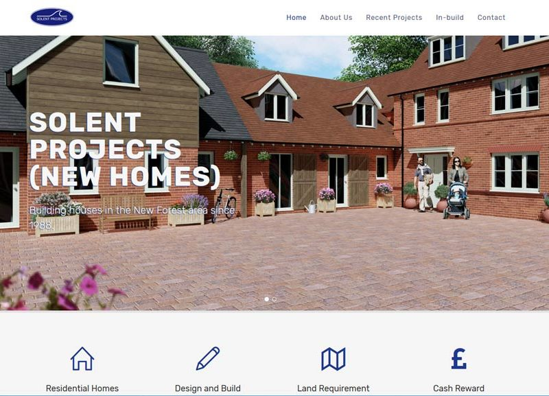 Solent Projects (New Homes Ltd) Website