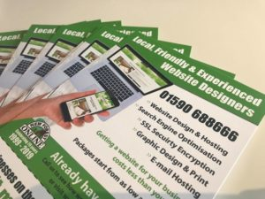 Businesses save 10% on website design and build services with this leaflet