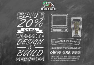 save 20% off website design services new forest online