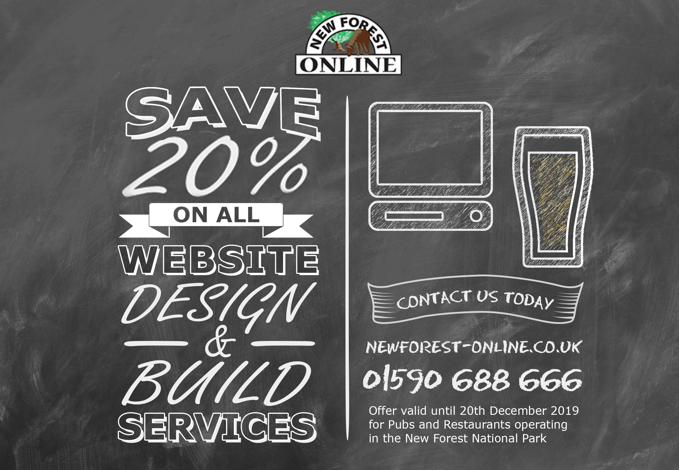 save 20% off website design services new forest online