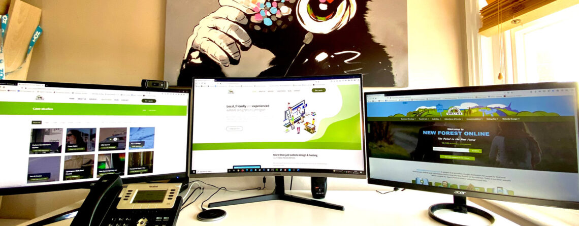 New forest Online website design